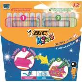 Flamastry BIC Kids Colour&Create XL 12 kolorów 902077