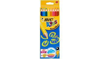 Kredki ołówkowe BIC Kids Supersoft 8 kol.+temperówka 895921