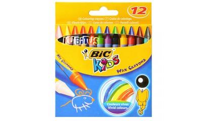 Kredki świecowe BIC Kids Wax Crayons 12kol. 8396061