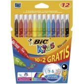 Flamastry BIC Kids Couleur 12 kolorów (144szt) 8329101
