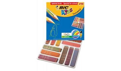 Kredki ołówkowe BIC Kids Tropicolors 12kol (216szt) 897110