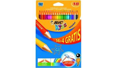 Kredki ołówkowe BIC Kids Evolution 14+4kol. 829032