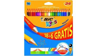 Kredki ołówkowe BIC Kids Evolution 18+6kol. 829732