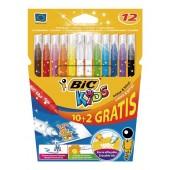 Flamastry BIC Kids Colour Erase 12 kolorów 880507