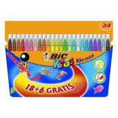 Flamastry BIC Kids Couleur 18+6kol. 841803