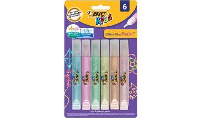 Klej z brokatem BIC Glitter Glue Pastel 6kol. 893268