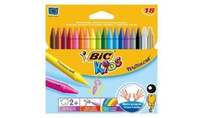 Kredki świecowe BIC Kids Plastidecor 18kol. 829771