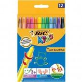 Kredki świecowe BIC Kids Turn&Colour (wykręcane) 12 kolorów 880508