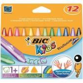 Kredki świecowe BIC Kids Plastidecor Triangle (trójkątne) 12 kolorów (144szt) 8412101