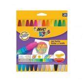 Kredki pastele olejowe BIC Kids OIL PASTEL 24 kolory  926447