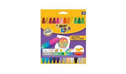 Kredki pastele olejowe BIC Kids OIL PASTEL 24kol. 926447
