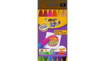 Kredki pastele olejowe BIC Kids OIL PASTEL 12kol. 926446