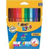 Flamastry BIC Visa 12kol. 888695