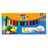 Plastelina szkolna BIC 12 kolorów 947713