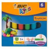 Plastelina szkolna BIC 6 kolorów 947712