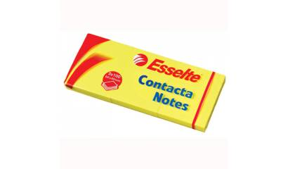 Bloczek samop. ESSELTE CONTACTA 50x40 żółte (3-bl) (100kart)83012