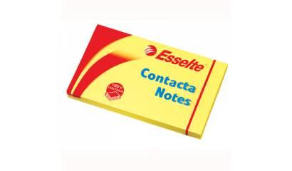 Bloczek samop. ESSELTE CONTACTA 125x75 żółty (100kart) 83001