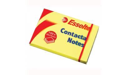 Bloczek samop. ESSELTE CONTACTA 75x75 żółty (100kart) 83003