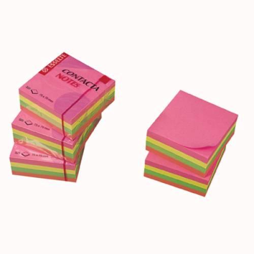 Karteczki samoprzylepne ESSELTE CONTACTA 75x75 neonowe (320kart) 83065