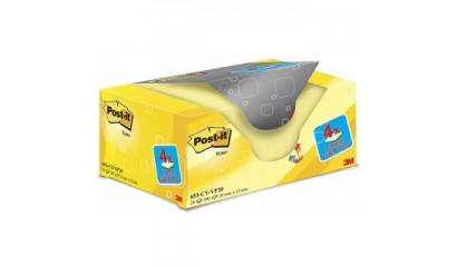 Bloczek samop. 3M 38x51 żółty (100kart) 20+4 bloczki gratis 653CY-VP20