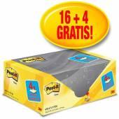 Karteczki samoprzylepne 3M 127x76 żółty (100kart) 20+4 bloczki gratis 655CY-VP20
