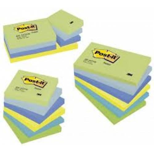 Karteczki samoprzylepne 3M Post-it 38x51mm P.Marzycielska 12 bl. po 100kart. 653MTDR
