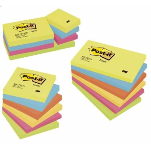 Karteczki samoprzylepne 3M Post-it 76x76mm P.Energetyczna 6 bl. po 100kart. 654TFEN