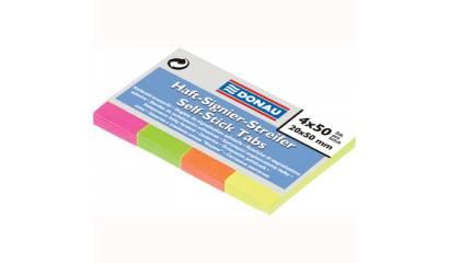 Zakładki indeksujące DONAU 20x50 fluo 4kol.x50szt 7576001PL