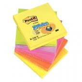 Bloczki samop. 76x76mm 3M Post-it Z-Notes harmonijkowe neonowe  (6sz) R330-NR
