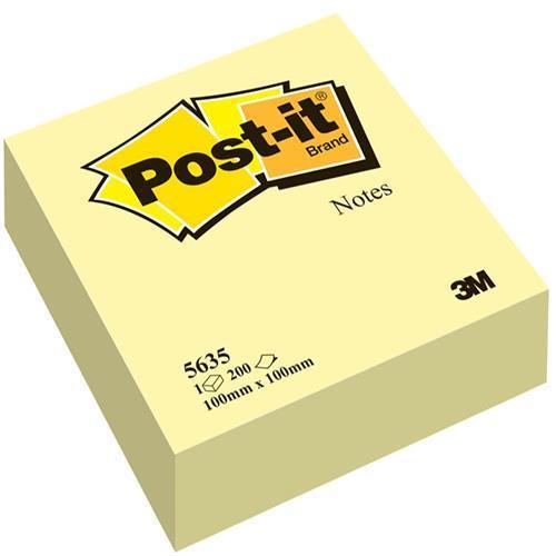 Karteczki samoprzylepne 3M 100x100 ¿ó³ty (200kart) 5635