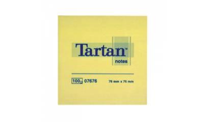 Bloczek samop. TARTAN 76x76 żółte 07676