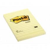 Karteczki samoprzylepne 3M 102x152 żółty w linię (100kart) 660