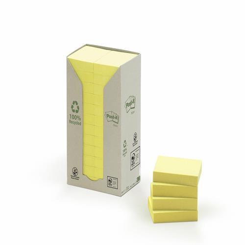 Karteczki samoprzylepne 3M ECO 38x51 pastelowe ¿ó³te (24-bl) 653-1T