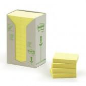 Karteczki samoprzylepne 3M ECO 38x51 pastelowe żółte (24-bl) 653-1T