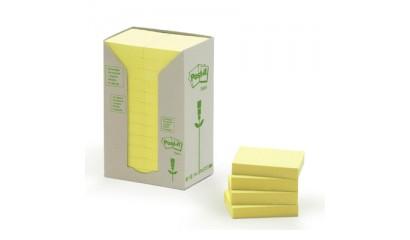 Bloczek samop. 3M ECO 38x51 pastelowe żółte (24-bl) 653-1T