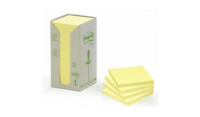 Bloczek samop. 3M ECO 76x76 żółte (16-bl) 654-1T