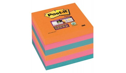 Bloczki samop. 3M Post-it 76x76mm Super Sticky, Bangkok, 90 kartek,(4+2 gratis)