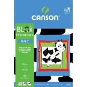 Blok rysunkowy A4 CANSON biały 20k 6666-117
