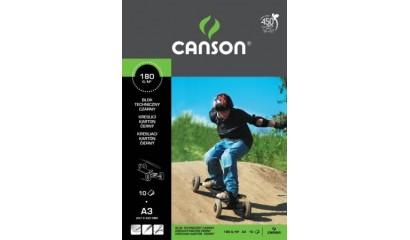 Blok techniczny CANSON czarny A3/10k 6666-176