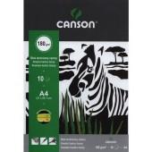 Blok techniczny CANSON czarny Zebra A4/10k 0075-233