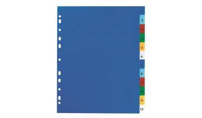 Przekładki PP ELBA A4 MAXI kolorowe 1-10 E17561020