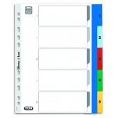 Przekładki PP ELBA A4 MAXI kolorowe 1-5 E17560620