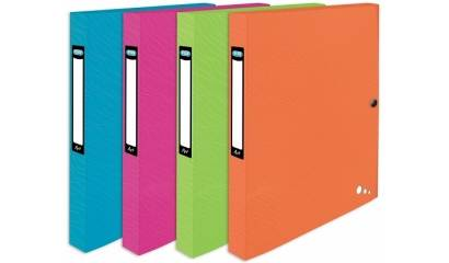 Teczka z gumką ELBA Art Pop A4/40 PP Mix-kolor 400060036