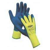 Rękawice ciepłochronne CERVA Bluetail, montażowe, rozm. 8, żółto-niebieskie