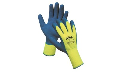 Rękawice ciepłochronne CERVA Bluetail, montażowe, rozm. 10, żółto-niebieskie