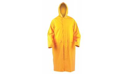 Płaszcz p/deszczowy ekon. RainMan (BE-06-001), z kapturem, rozm. XL, żółty