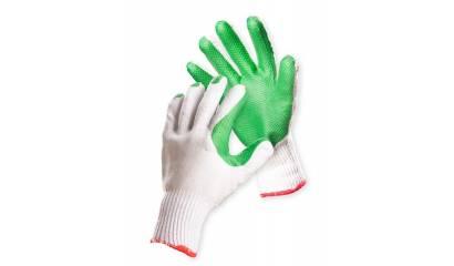 Rękawice ekon. FRIDRICH&FRIDRICH Brick (HS-04-007), montażowe, rozm.10, biało-zielone