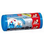 Worki na śmieci 35l JAN NIEZBĘDNY Easy-Pack niebieskie (30szt) wiązane