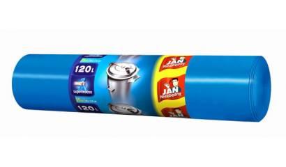 Worki na śmieci 120l JAN NIEZBĘDNY Big-Pack niebieskie supermocne (25)