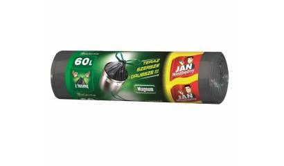 Worki na śmieci 60l JAN NIEZBĘDNY Magnum Pack super mocne (10) z taśmą